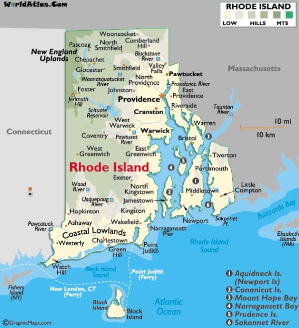 Rhode Island - Ou Aller